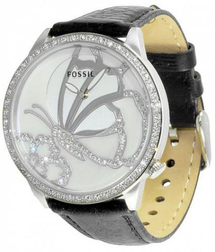 watch with butterfly fossil